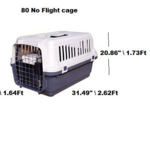 Flight Cage (80) No,L-32 inches, W-20 inches,H-21 inches