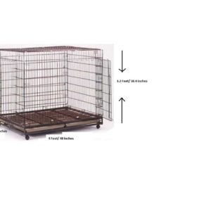 Dog Cage (Crate)-D213 No. L-48 inches,W-42 inches,H-40 inches.