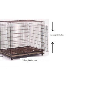 Dog Cage (Crate)-A236 No. L-60 inches,W-36 inches,H-38 inches