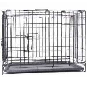Dog Cage (Crate)-Stainless Steel No. L-24 inches, W-18 inches,H-21 inches