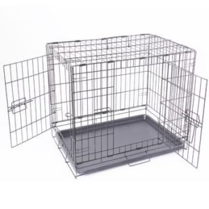 Dog Cage (Crate)-Stainless Steel No. L-30 inches,W-18 inches,H-24 inches
