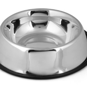 Round steel pet bowl Silver