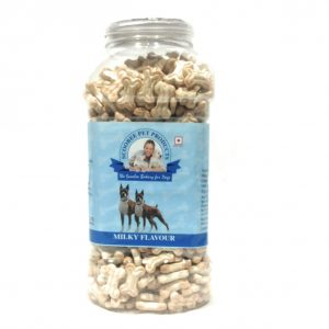 Scoobee Milky Flavour Biscuits For dog Treat Ideal Puppy Dogs Jar 900 Grams.